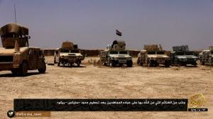 Iraqi equipment provided by the U.S. and captured by ISIS