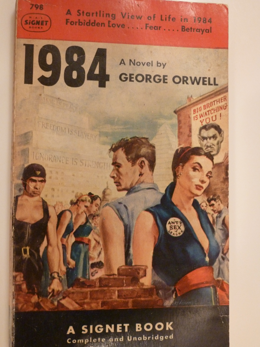 comparing dystopic worlds george orwell s 1984 and ray bra
