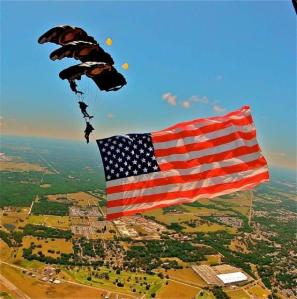 A Triple Stack of Special Ops with Flag -- Hooah!