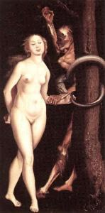 "Hans Baldung Grien, ""Eve, Serpent and Death"""
