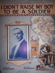 My copy of the sheet music (1915)