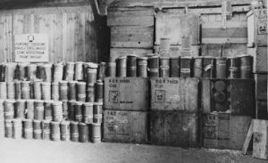 Zyklon-B stockpile used by the Nazis in World War II (Image: USHMM)