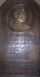 Plaque in Philly in Honor of Smedley Butler.  Photo by author.