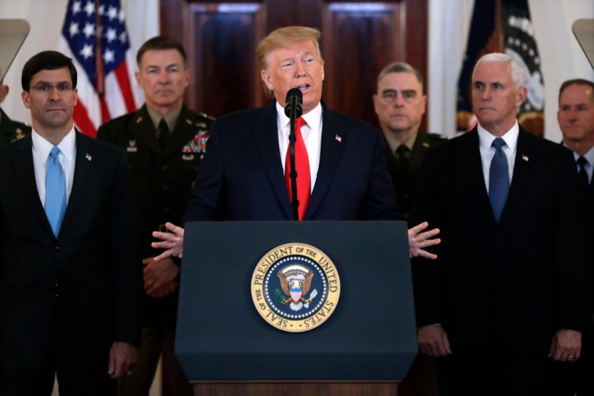 Trump US Iran, Washington, USA - 08 Jan 2020